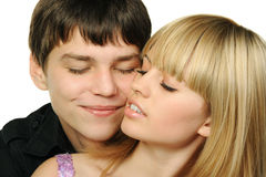 Young enamoured pair Royalty Free Stock Photo