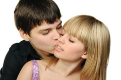 Young enamoured pair Stock Image