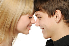 Young enamoured pair Stock Photos