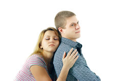 Young enamoured woman and the man Royalty Free Stock Photography