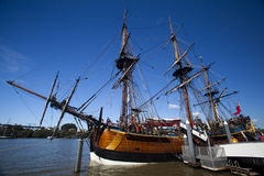 Young Endeavour at port. Young Endeavour docked in Brisbane city at near the Riverside Centre Stock Images