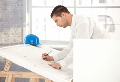 Young engineer busy by working Royalty Free Stock Images