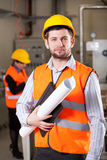 Young engineer in factory Stock Photo