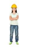 Young engineer girl Stock Image