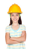 Young engineer girl Royalty Free Stock Photo