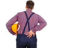 Young engineer having backpain Stock Images