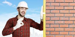 Young engineer man . Mixed media Stock Photos