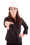 Young engineer offering handshake Stock Photos