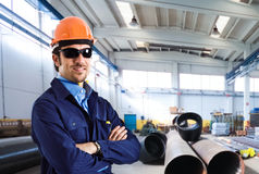 Young engineer portrait at work Stock Photo