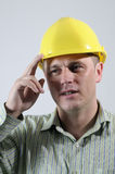 Young engineer saluting Royalty Free Stock Images