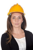 Young engineer with and security helmet Royalty Free Stock Photography