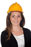 Young engineer with and security helmet Stock Image