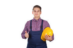 Young engineer showing thumbs up Royalty Free Stock Photos