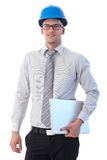 Young engineer smiling at camera Stock Photography