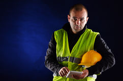 Young engineering with orange helmet Royalty Free Stock Images