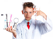 Young enthusiastic Chemist Stock Image