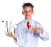 Young enthusiastic Chemist Royalty Free Stock Images