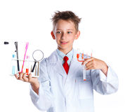 Young enthusiastic Chemist Royalty Free Stock Photos