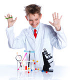Young enthusiastic Chemist Stock Images