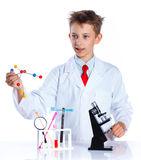 Young enthusiastic Chemist Stock Photography