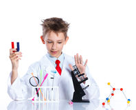Young enthusiastic Chemist Royalty Free Stock Photography