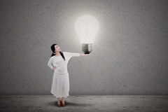 Entrepreneur bright idea Stock Photo