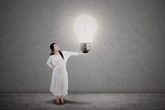 Entrepreneur bright idea stock photo