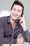 Young Entrepreneur on the Phone Stock Image