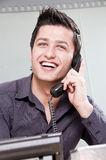 Young Entrepreneur on the Phone Stock Images