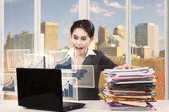 Young entrepreneur with workload Stock Image