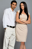 Young ethnic couple Royalty Free Stock Photos