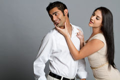 Young ethnic couple having problems Royalty Free Stock Photography