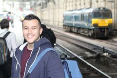 Young ethnic male during his everyday commute stock images