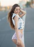 Young European attractive sexy fashion model Royalty Free Stock Photos