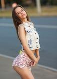Young European attractive sexy fashion model Stock Photos