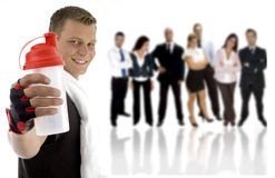Young excersier and professional young people stock image
