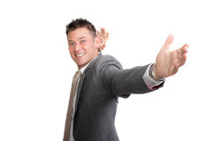 Young excited businessman Royalty Free Stock Photo