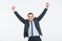 Young excited businessman Stock Photo