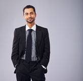 Young Executive in Business Suit Stock Image