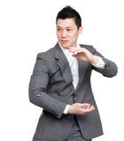 Young executive fight pose Royalty Free Stock Photo