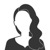 Young executive woman profile icon. Stock Photo