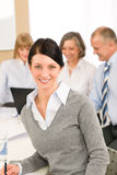 Young executive woman take notes during meeting Royalty Free Stock Photography