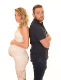 Young expecting couple Stock Photography