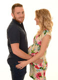Young expecting woman and man Royalty Free Stock Photos