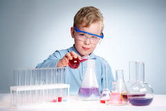 Young experimentalist Royalty Free Stock Images