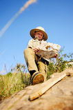 Young explorer royalty free stock photo