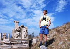 The Young Explorer Royalty Free Stock Photos