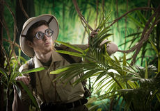 Free Young Explorer Lost In Jungle Royalty Free Stock Photography - 47546537