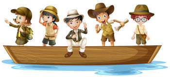 Young explorers royalty free illustration