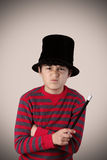 Young expressive magician Stock Photography